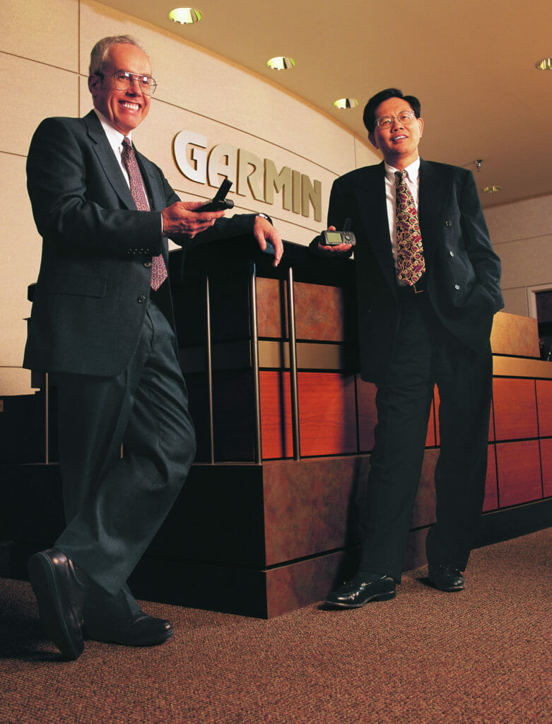 Dr. Min Kao and Gary Burrell, the Founders of Garmin