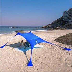 Picture of the SUN NINJA POP UP BEACH TENT